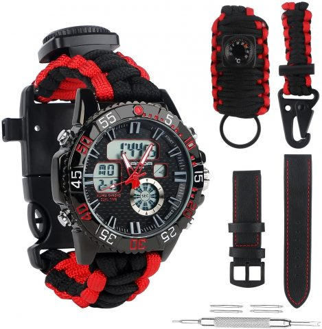 BlueStraw Digital Survival Sport Watch