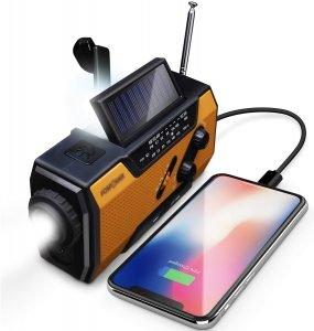 FosPower Solar Crank Radio