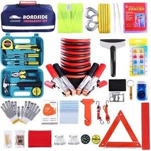 Roadside Assistance Emergency Kit - 142 Pieces Winter Car Kit