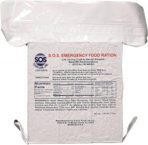 SOS Food Labs, Inc. 185000825 Rations Emergency Food Bar