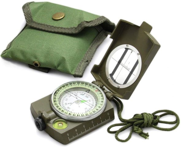 Eyeskey Tactical Survival Compass with Lanyard & Pouch