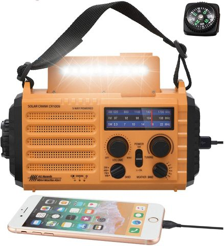 Mesqool 5-way powered Emergency Radio