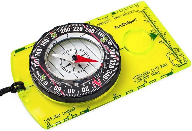 Orienteering Compass - Hiking Backpacking Compass